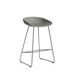 About a Stool 38 barstol h65, dusty green/rostfritt