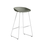 About a Stool 38 barstol h75, dusty green/vit