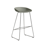 About a Stool 38 barstol h75, dusty green/rostfritt