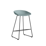 About a Stool 38 barstol h65, dusty blue/svart