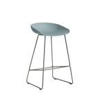 About a Stool 38 barstol h65, dusty blue/rostfritt