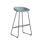 About a Stool 38 barstol h75, dusty blue/svart