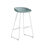 About a Stool 38 barstol h75, dusty blue/vit