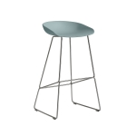About a Stool 38 barstol h75, dusty blue/rostfritt