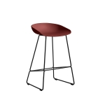 About a Stool 38 barstol h65, tegel/svart