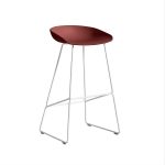 About a Stool 38 barstol h75, tegel/vit