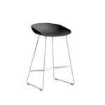 About a Stool 38 barstol h65, soft black/vit