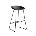 About a Stool 38 barstol h75, soft black/svart