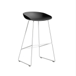 About a Stool 38 barstol h75, soft black/vit