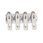 Clips magneter 4-pack, silver