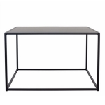 Domo Square bord M outdoor, svart
