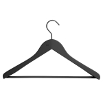 Soft Barred Coat Hanger wide 4-pack, svart