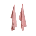 Tea Towel Check handduk 2-pack, rosa
