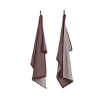 Tea Towel Grid handduk 2-pack, bordeaux