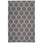 Dhurry jaal matta, charcoal grey/white