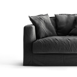 Le Grand Air Loveseat klädsel, Carbon Dust