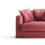Le Grand Air Loveseat klädsel, Rosewood Linen