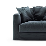 Le Grand Air Loveseat sammet klädsel, Graphite