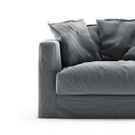 Le Grand Air Loveseat sammet klädsel, Granite
