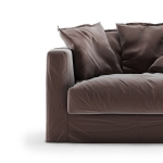Le Grand Air Loveseat sammet klädsel, Moleskin Brown