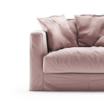 Le Grand Air Loveseat sammet klädsel, Cameo