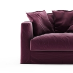 Le Grand Air Loveseat sammet klädsel, Bordeaux