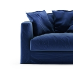 Le Grand Air Loveseat sammet klädsel, Indigo
