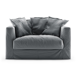 Le Grand Air Loveseat sammet, Granite