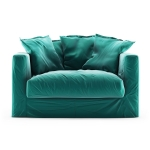 Le Grand Air Loveseat sammet, Azure