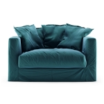 Le Grand Air Loveseat sammet, Kingfisher