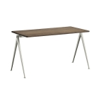 Pyramid desk 01 140x65, beige frame/smoked