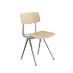 Result chair, beige/oak matt seat
