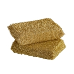 Lurex sponge svamp 2-pack, gold