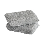 Lurex sponge svamp 2-pack, silver