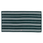 Striped Velour handduk 50x70, racing green/vit