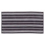 Striped Velour handduk 50x70, charcoal/vit