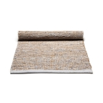 Jute/Leather matta 75x200, smooth grey