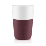 Caffe Latte mugg 2-pack, dark burgundy