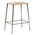 Adam Stool 50 pall, läder/raw steel