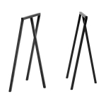 Loop Stand High bordsben 2-pack, svart