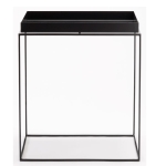 Tray table S square 34cm black