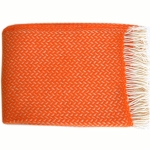 Ullpl�d Polka Orange/vit