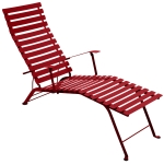 Bistro Chaise Longue, poppy red