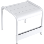 Luxembourg bord/fotpall, cotton white