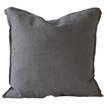 Washed Linen kuddfodral 50x50, dark grey