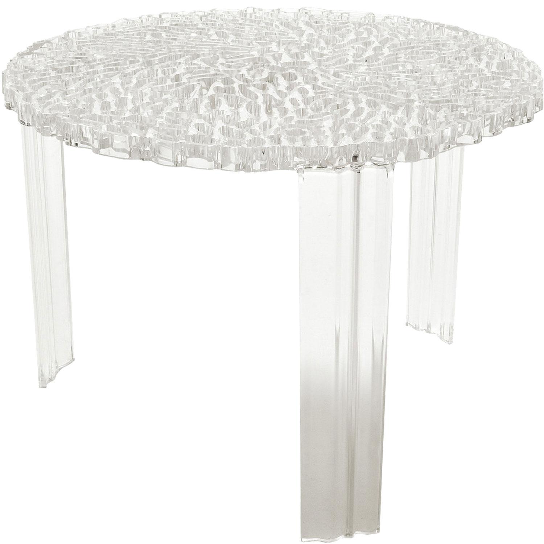 T Table Soffbord Högt, Transparent
