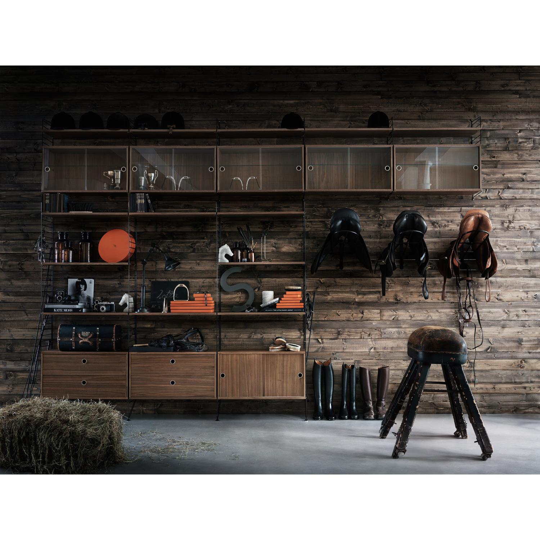String gavel vägg 2 p 75x20, svart frÃ¥n string – köp online pÃ¥ ...