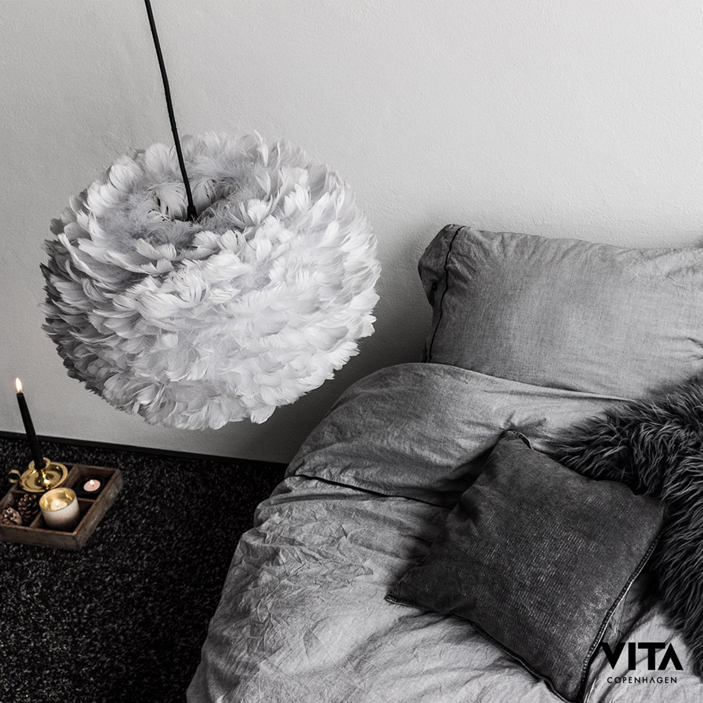 Eos fjäderlampa pendel s, grÃ¥ – vita – köp online pÃ¥ rum21.se