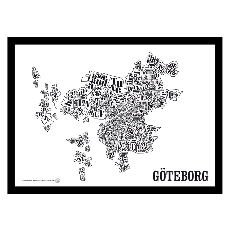 tavla karta göteborg Göteborgskarta poster – TGIOC – Köp online på Rum21.se tavla karta göteborg