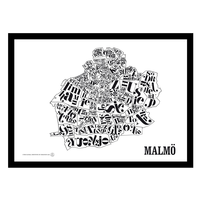 malmö karta tavla Malmökarta poster – TGIOC – Köp online på Rum21.se malmö karta tavla